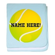 Personalized Tennis Ball baby blanket