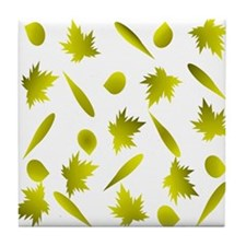 Gold Leaves Tile Coaster