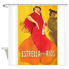 Spanish Shower Curtains Spanish Fabric Shower Curtain Liner