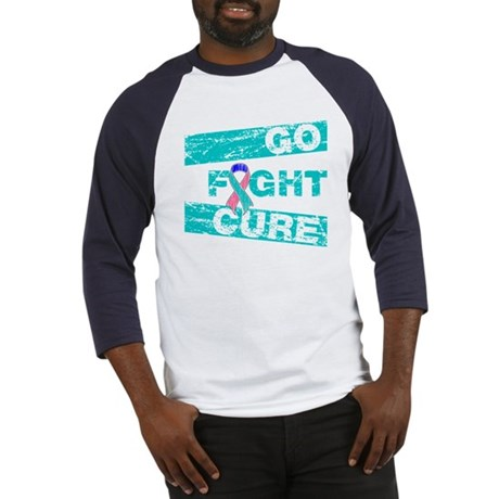 Thyroid Cancer Go Fight Cure Baseball Jersey