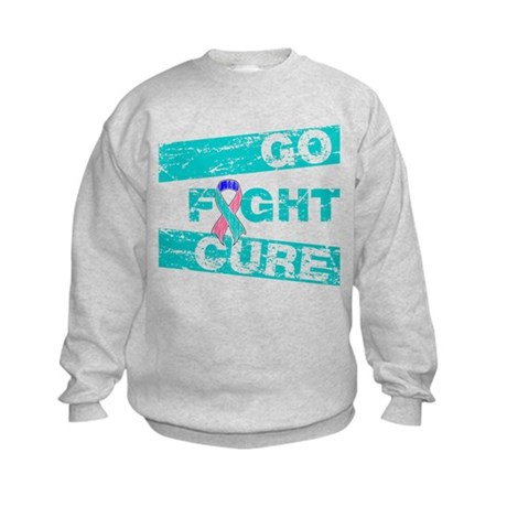 Thyroid Cancer Go Fight Cure Kids Sweatshirt