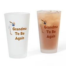 Stork Grandma To Be Again Drinking Glass