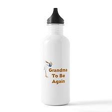 Stork Grandma To Be Again Water Bottle