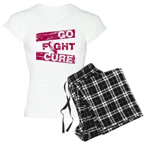 Throat Cancer Go Fight Cure Women's Light Pajamas