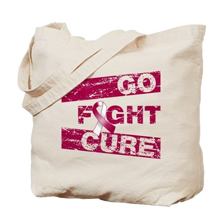 Throat Cancer Go Fight Cure Tote Bag