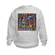 Four Animals (Wanyama Wanne) Sweatshirt