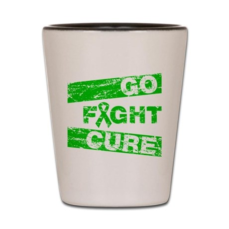 TBI Go Fight Cure Shot Glass