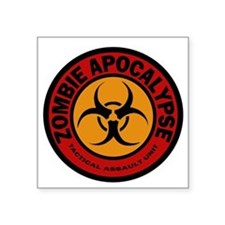 "ZOMBIE APOCALYPSE Tactical  Square Sticker 3"" x 3"""