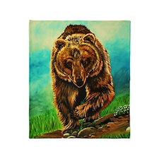 Running Bear Throw Blanket