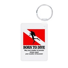 Born To Dive (Descent-Ascent) Keychains