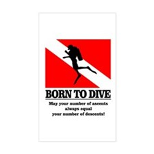 Born To Dive (Descent-Ascent) Decal