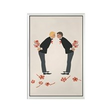 """Gay Wedding Couple"" Rectangle Magnet (100 pack)"