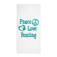 Peace Love Boating Beach Towel