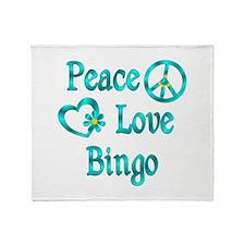 Peace Love Bingo Throw Blanket