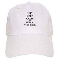Keep calm and walk the dog Baseball Cap