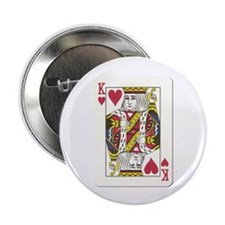 "King of Hearts 2.25"" Button (10 pack)"
