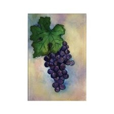 Red Wine Grapes Refrigerator Rectangle Magnets