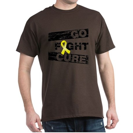 Testicular Cancer Go Fight Cure Dark T-Shirt