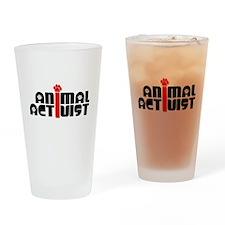 Animal Activist Drinking Glass