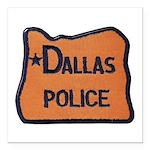 Dallas Oregon Police Square Car Magnet 3