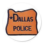 Dallas Oregon Police Round Car Magnet