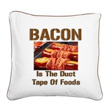 Bacon Tape Square Canvas Pillow