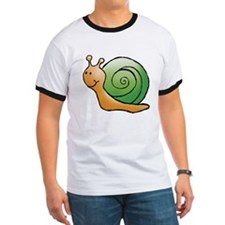 Orange and Green Snail T