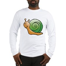 Orange and Green Snail Long Sleeve T-Shirt