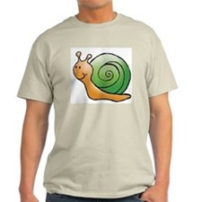 Orange and Green Snail Ash Grey T-Shirt
