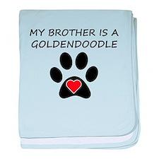 Goldendoodle Brother baby blanket
