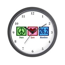 Peace Love 26.2 Wall Clock