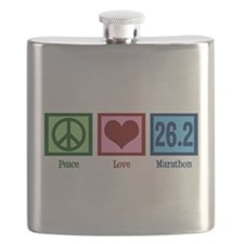 Peace Love 26.2 Flask
