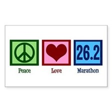 Peace Love 26.2 Decal