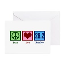 Peace Love 26.2 Greeting Cards (Pk of 10)