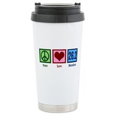 Peace Love 26.2 Ceramic Travel Mug