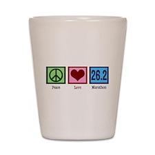 Peace Love 26.2 Shot Glass