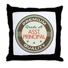 Assistant Principal vintage Throw Pillow