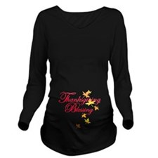 Thanksgiving Baby Blessing Long Sleeve Maternity T