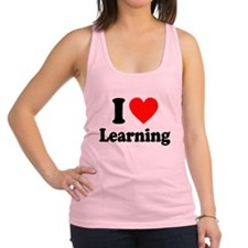 I Love Learning Racerback Tank Top