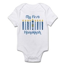 1st Hanukkah Candles Infant Bodysuit