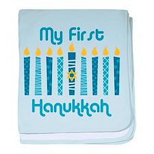 1st Hanukkah Candles baby blanket