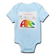 Philip rainbow bear Infant Bodysuit