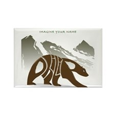 Philip brown bear Rectangle Magnet