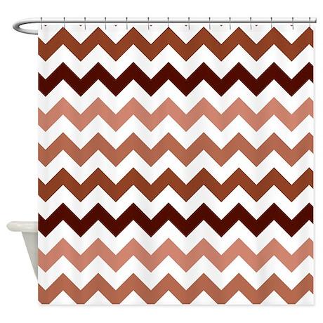 Gt brown bathroom d 233 cor gt pink brown chevron pattern shower curtain