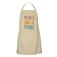 Peace Love and Pit Bulls Apron