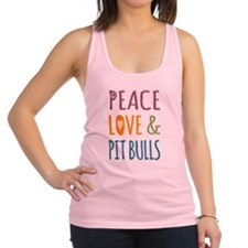 Peace Love and Pit Bulls Racerback Tank Top