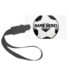 Personalized Name Soccer Ball Luggage Tag