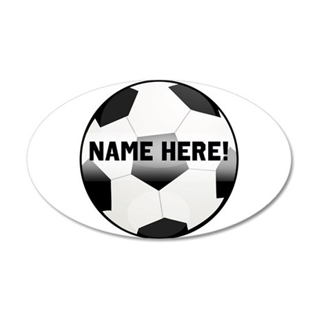Personalized Name Soccer Ball 35x21 Oval Wall Deca