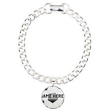 Personalized Name Soccer Ball Bracelet