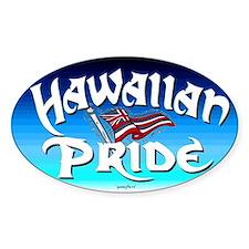 Hawaiian Pride Oval Bumper Stickers